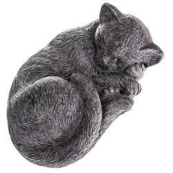 Ogrodowa betonowa dekoracja Śpiący kot, 28 x 12 x 18,5 cm