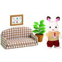 Figurki i postacie, Sylvanian Families Czekoladowe króliki - tata na kanapie 2201 - BEZPŁATNY ODBIÓR: WROCŁAW!