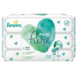 Pampers Aqua Pure Chusteczki nawilżane dla niemowląt 3x48 szt
