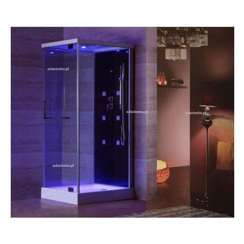Wanny z hydromasażem, Kabina prysznicowa z hydromasażem 80cm x 100cm czarna