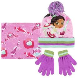 Komplet: czapka jesienna / zimowa, komin i rękawiczki Nella