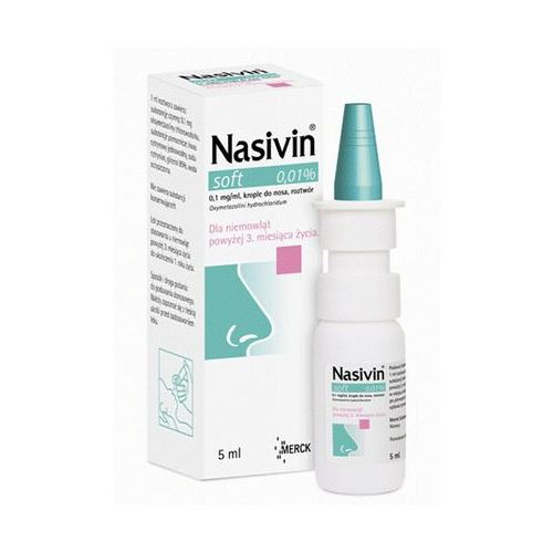 Preparaty do nosa, Nasivin soft 0.01% krop.do nosa 5ml