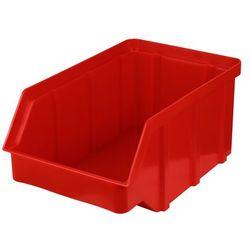 Plastikowy pojemnik warsztatowy - wym. 225 x 145 x 110 - kolor czerwony