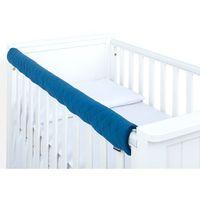 Zabezpieczenia do łóżeczek, MAMO-TATO Ochraniacz na górną krawędź łóżeczka - Velvet Granatowy