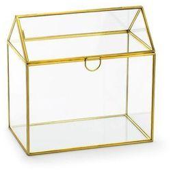 Szklane pudełko na koperty z życzeniami, prezentami - 1 szt.