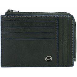 Piquadro Blue Square Etui na karty bankowe RFID skórzana 12,5 cm green ZAPISZ SIĘ DO NASZEGO NEWSLETTERA, A OTRZYMASZ VOUCHER Z 15% ZNIŻKĄ