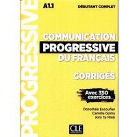 Książki do nauki języka, Communication progressive du francais A 1.1 Corriges debutant complet (opr. miękka)