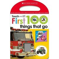 Książki dla dzieci, Touch and Lift First 100 Things That Go