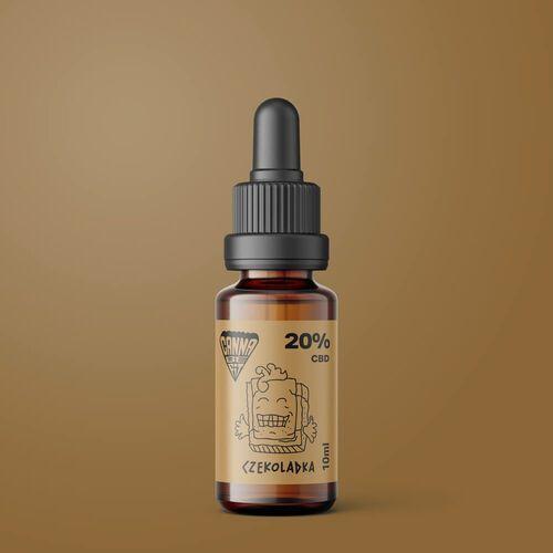 Olejki ziołowe, Olej CBD CannaBeFit 20% 2000mg 10ml Czekoladowy