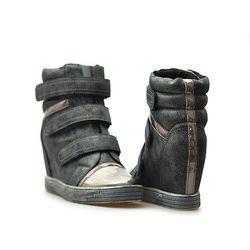 Sneakersy Sergio leone 28759 Srebrne/szare