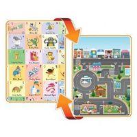 Maty edukacyjne, Mata dwustronna edukacyjna do zabawy - ABC/City - Alfabet/Miasto - Prince Lionheart