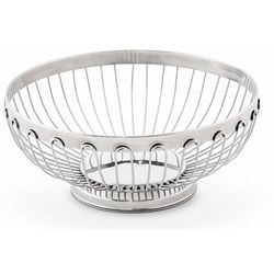 Koszyk na chleb mały Platinum | Ø175x(H)65mm