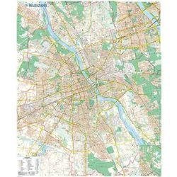 Warszawa mapa ścienna laminowana