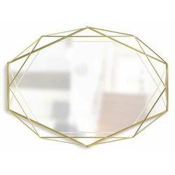 Lustro Prisma Brass - złoty