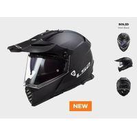 Kaski motocyklowe, KASK MOTOCYKLOWY LS2 MX436 PIONEER EVO MATT BLACK nowość 2020 roku! czarny matt