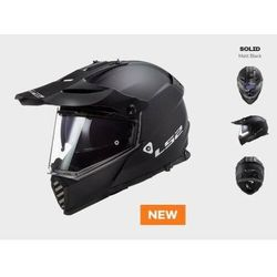 KASK MOTOCYKLOWY LS2 MX436 PIONEER EVO MATT BLACK nowość 2020 roku! czarny matt