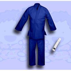 kimono do judo TONBO - JUNIOR, niebieskie, 350g/m2 (z białym pasem)