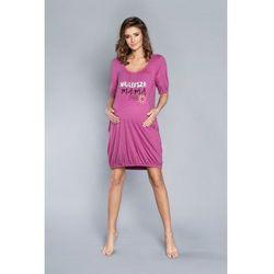 Italian Fashion mama jeżynowy koszula nocna