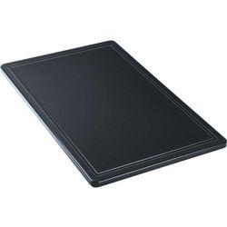 Deska do krojenia z wycięciem GN 1/1, czarna | STALGAST, 341537