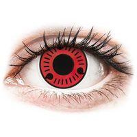 Soczewki kontaktowe, Soczewki kolorowe czerwone SASUKE NARUTO Crazy Lens 2 szt.