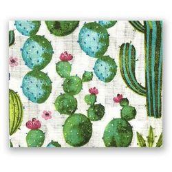 Pieluszka tetrowa 100% bawełna Kaktusy