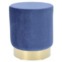 Pufa Delice Velvet L niebieska - niebieski ||złoty