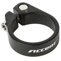 Śruby, Obejma podsiodłowa Accent ze śrubą Light 31.8mm czarna piaskowana