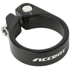 Obejma podsiodłowa Accent ze śrubą Light 31.8mm czarna piaskowana