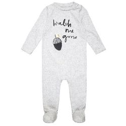 mothercare ACORN PRINT WITHOUT HAT BABY Śpioszki grey marl