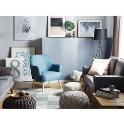 Fotel szmaragdowy - wypoczynkowy - do salonu - tapicerowany - LOKEN