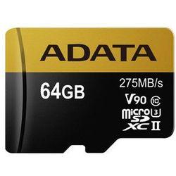 ADATA Premier ONE V90 64GB MicroSDXC UHS-II Klasa 10 pamięć flash