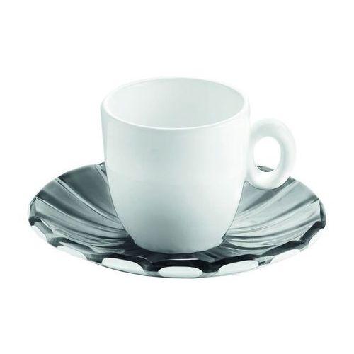 Filiżanki, Guzzini - Grace - kpl. 2 filiżanek espresso,czarne - czarny   biały