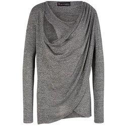 Sweter ciążowy i do karmienia bonprix czarno-biały melanż