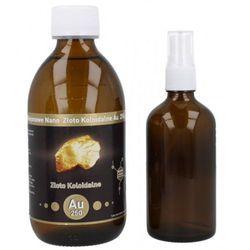 Niejonowe Nano Złoto koloidalne AU 250 - 25 ppm 300 ml + butelka z atomizerem
