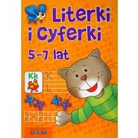 Książki dla dzieci, Literki i cyferki 5-7 lat (opr. miękka)