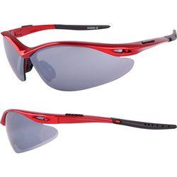Okulary SHADOW czerwone metalizowane 3 pary soczewek