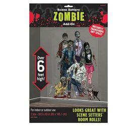 Dekoracja ścienna Rodzina zombie - 2 elem.