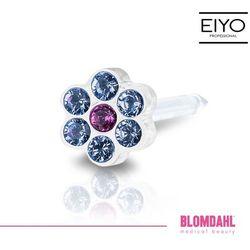 Kolczyk do przekłuwania uszu Blomdahl - Daisy Alexandrite / Rose 5 mm