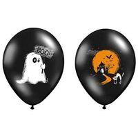 Balony, Balony czarne na Halloween - Duszek - 37 cm - 5 szt.