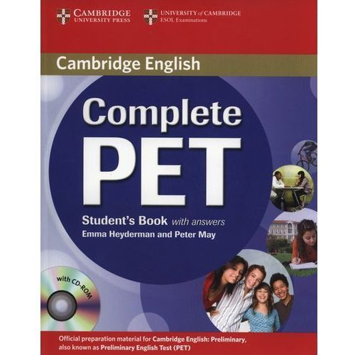 Książki do nauki języka, Complete PET Student`s book with answers + Cd-Rom (opr. miękka)