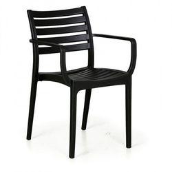 Krzesło ogrodowe SLENDER, czarny, 3+1 GRATIS