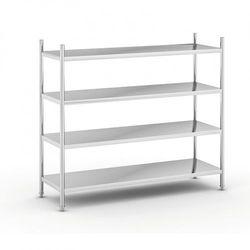 Półki ze stali nierdzewnej, 1550x1500x600 mm, 4 półki