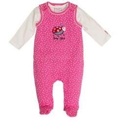 SALT AND PEPPER Baby Glück Girls Rampersy Biedronka pink