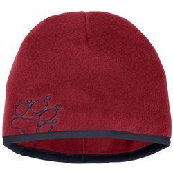 Czapka zimowa dla dzieci BAKSMALLA FLEECE HAT KIDS dark lacquer red - S