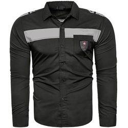 Koszula męska długi rękaw style209 - czarna