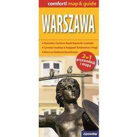Przewodniki turystyczne, Warszawa 2w1 przewodnik i mapa (opr. miękka)