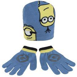 Komplet: czapka jesienna / zimowa i rękawiczki Minionki