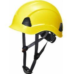 Kask hełm roboczy LOKI wysokościowy 4-pkt - żółty