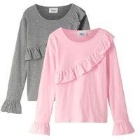 Spódniczki dziecięce, Koszulka + spódniczka tiulowa (2 części) bonprix biało-stary róż