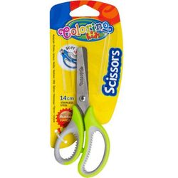 Nożyczki Szkolne 14 Cm Z Gumową Rączką Blister Colorino Kids